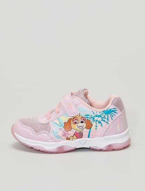 Sneakers 'Paw Patrol' con chiusure a strappo                             ROSA