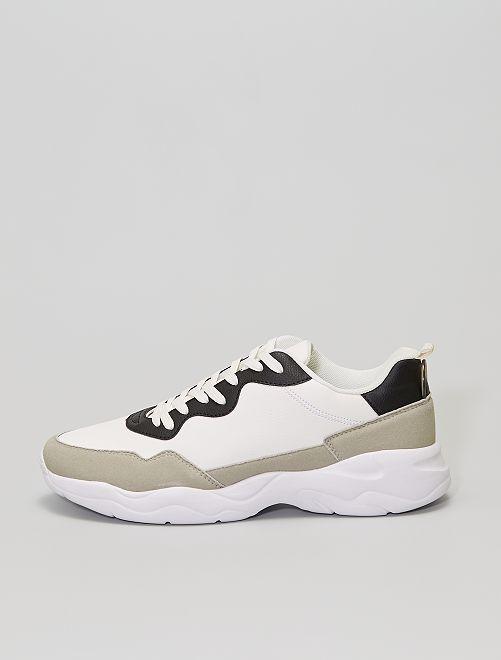 Sneakers running suole profilate                                         grigio