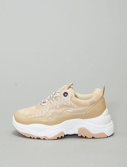 Sneakers suola spessa                             BEIGE