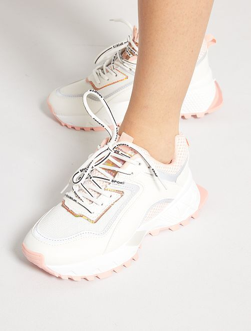 Sneakers suola spessa                             ROSA