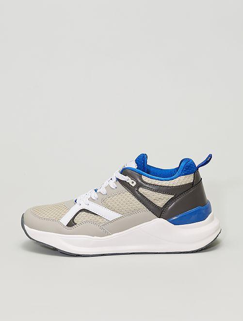 Sneakers tricolori                             GRIGIO