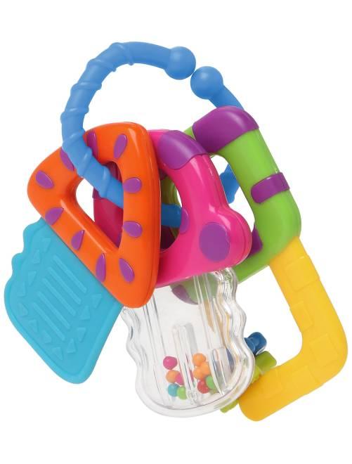 Sonaglino con anelli di dentizione                             multicolore Neonato