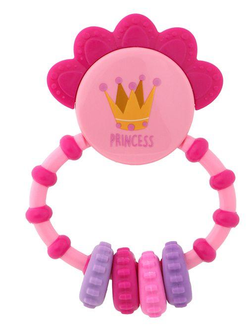 Sonaglino con anello di dentizione                                         rosa Neonata