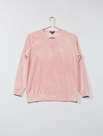 Sopra pigiama ciniglia - Kiabi