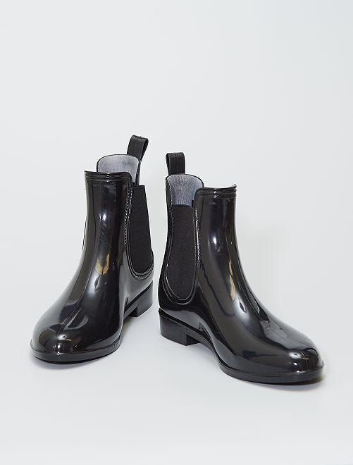 Stivaletti in gomma tipo chelsea boots                             nero