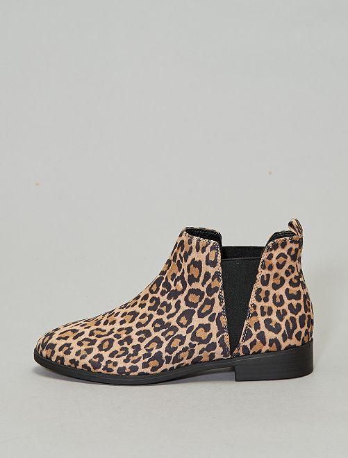 Stivaletti stile Chelsea leopardati                             leopardato