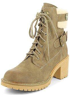 Scarpe donna - Stivaletti stile scarpe da montagna
