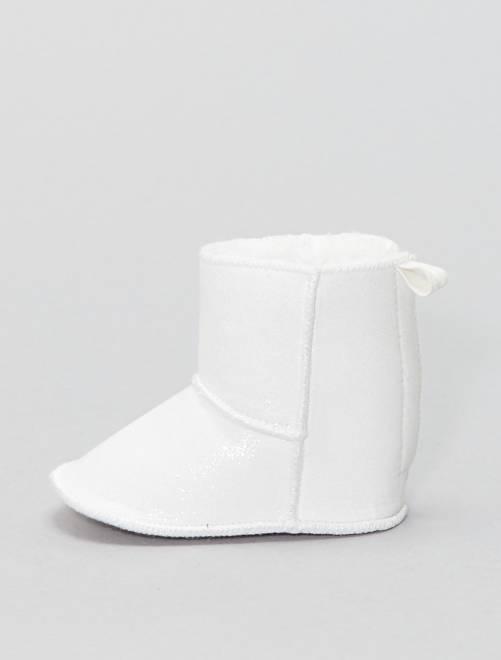 Stivaletti tessuto luccicante                             bianco neve Neonata