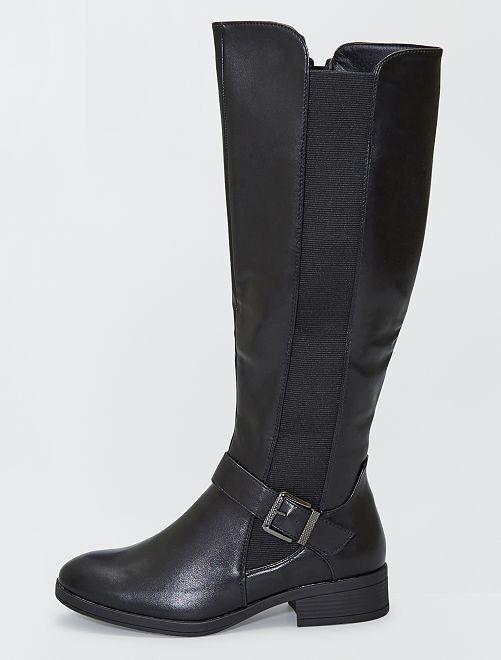 Stivali alla cavallerizza con fibbia                             nero
