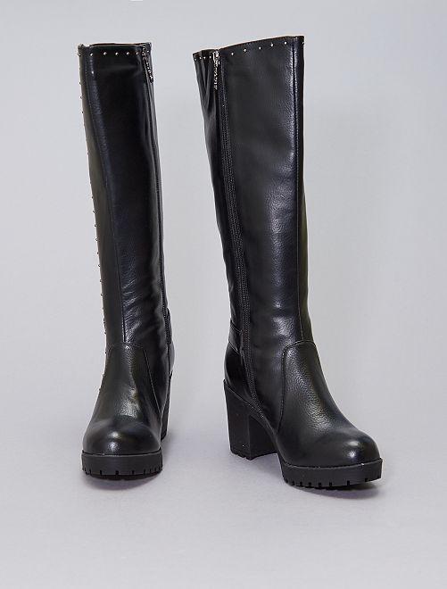 Stivali con dettagli con borchie                             nero