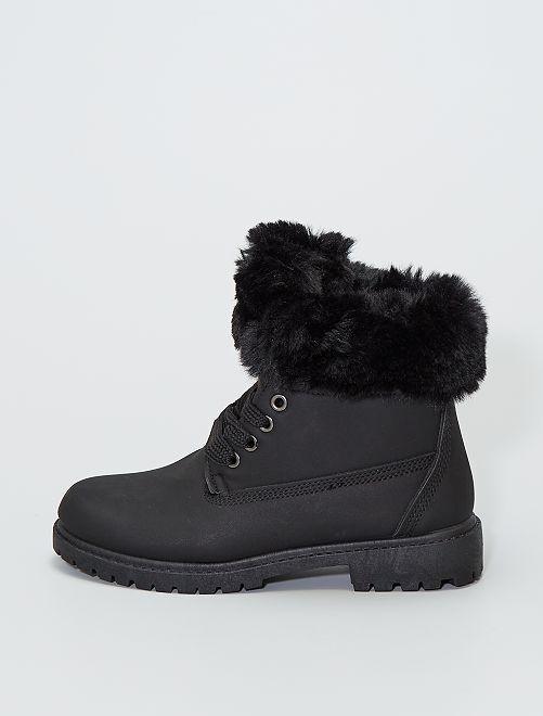 Stivali con girocaviglia in pelliccia                                                                 nero