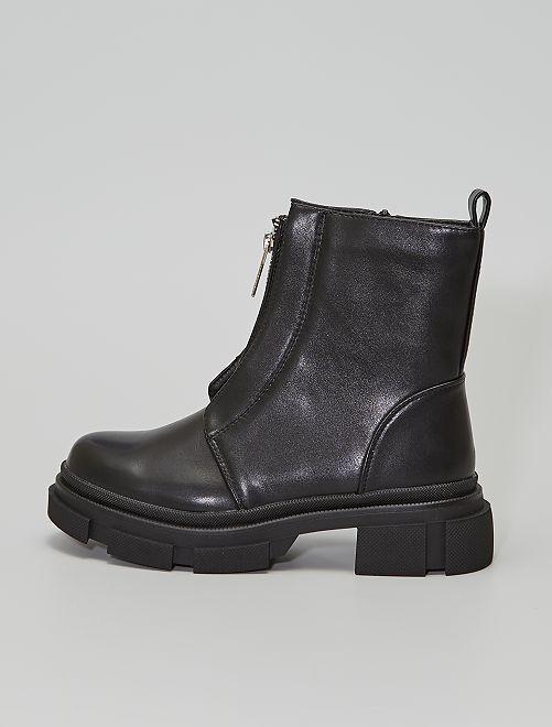 Stivali con zip stile ranger                                         nero