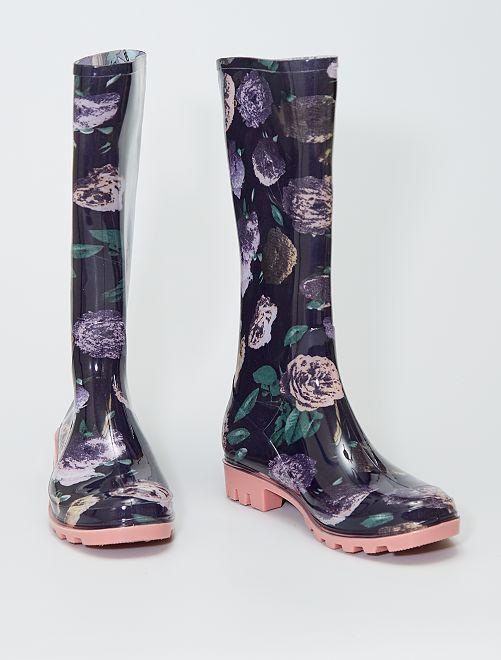 Stivali da pioggia in gomma                             nero