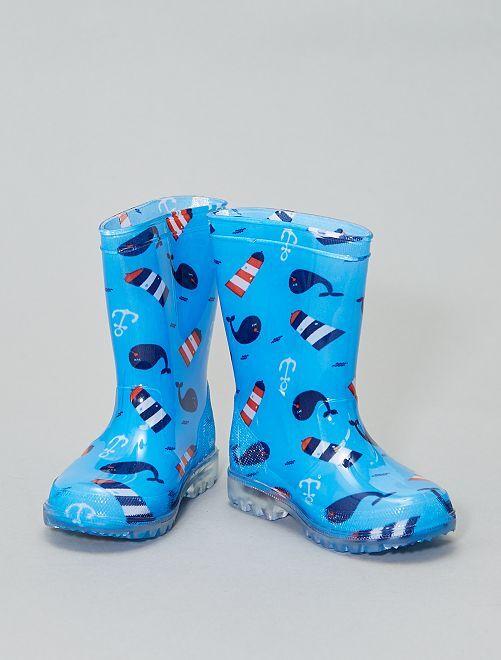 Stivali da pioggia luminescenti                             blu