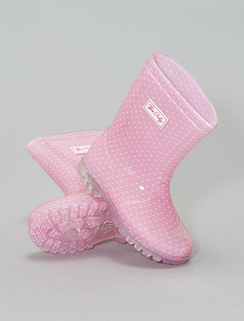 Stivali da pioggia luminosi                             rosa