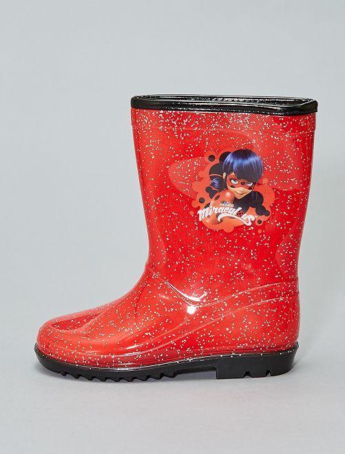 Stivali da pioggia 'Miraculous'                             rosso Infanzia bambina