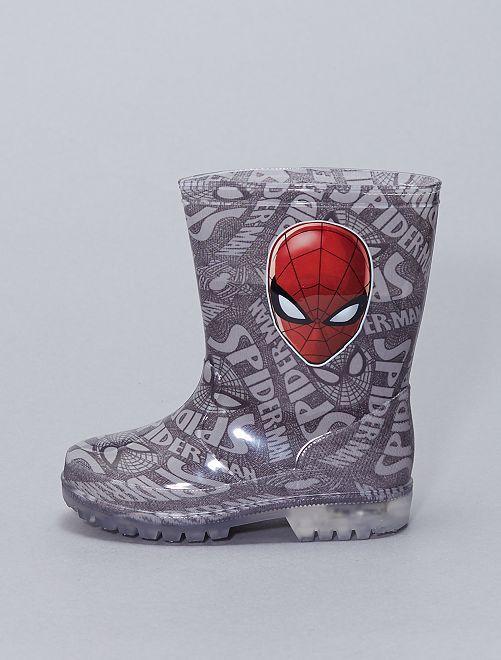 Stivali da pioggia 'Spider-Man' luminosi                             grigio