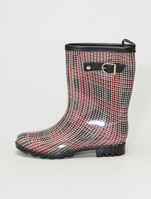 Stivali da pioggia stampati                             quadri