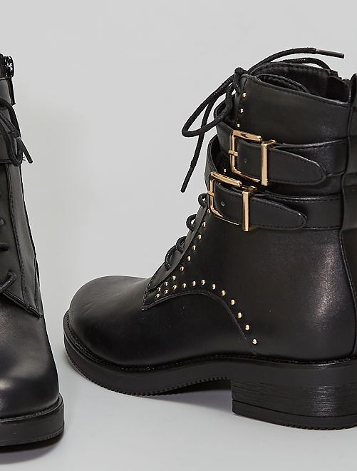 Stivali in similpelle                             nero