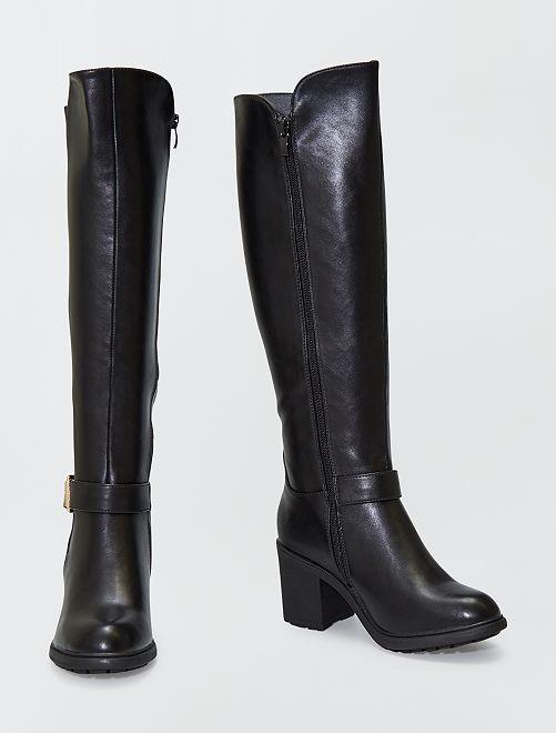 Stivali stile cavallerizza in similpelle                             nero
