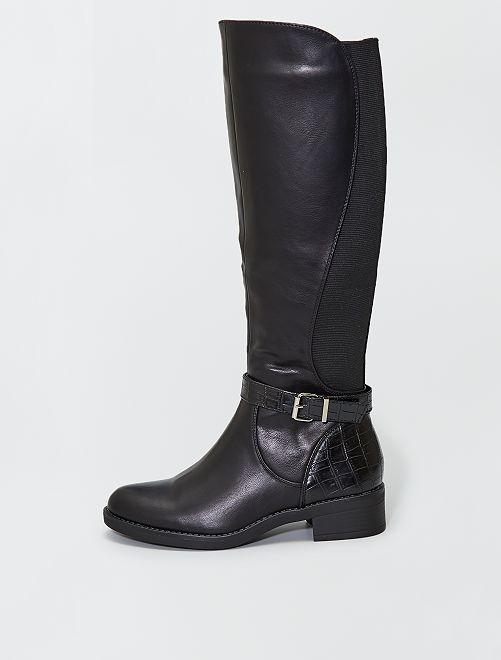 Stivali stile cavallerizza                     nero