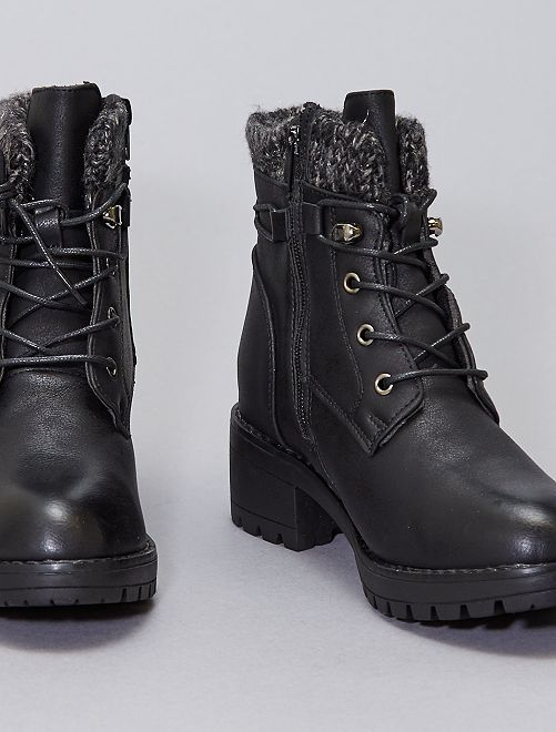 Stivali stile montagna                             nero