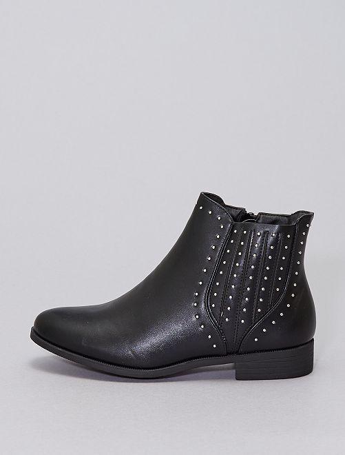 Stivali tipo chelsea con borchie                                         nero