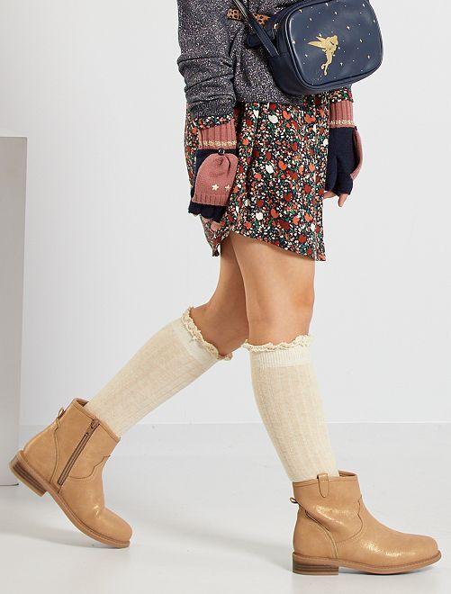 Stivali tipo texani                             MARRONE