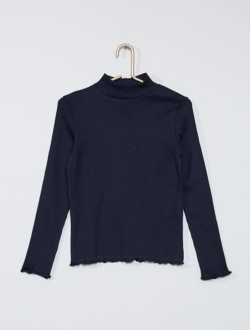 T-shirt a coste                                                                 blu