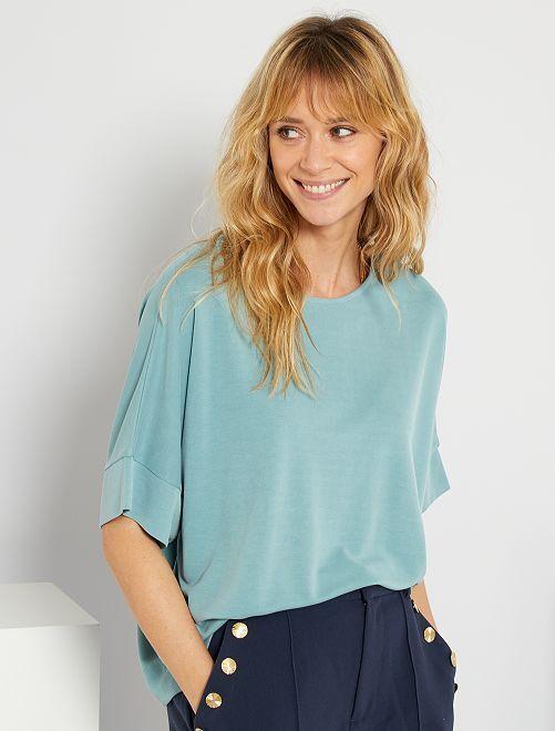 T-shirt a maniche corte                                                                 blu