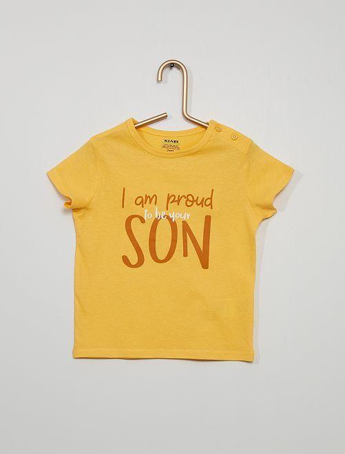 T-shirt a maniche corte stampata                                                                                                                                                                             GIALLO