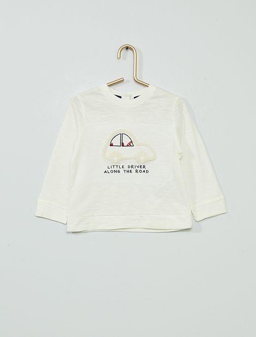 T-shirt a maniche lunghe eco-sostenibile                                         BIANCO