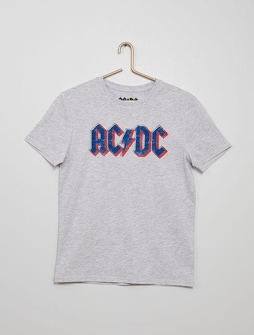 T-shirt 'ACDC'                             grigio