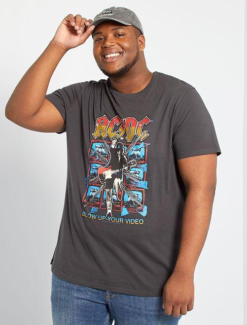 T-shirt 'ACDC'                             grigio scuro