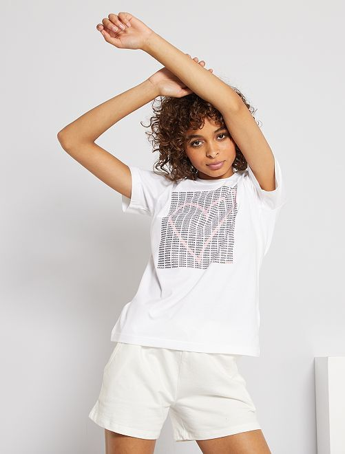 T-shirt 'adidas'                             BIANCO