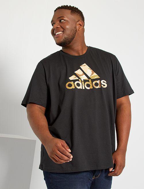 T-shirt 'adidas' logo mimetico                             NERO
