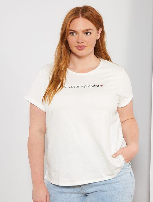 T-shirt basica eco-sostenibile                                                                                 BIANCO