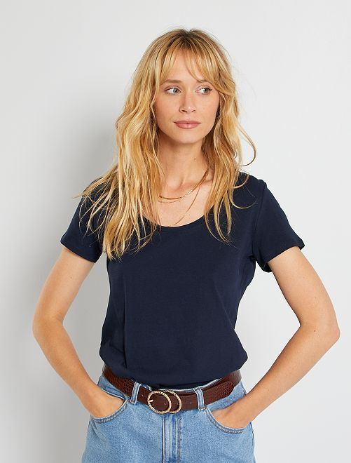 T-shirt basica eco-sostenibile                                                                                                                 blu