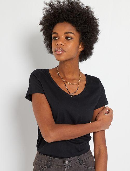 T-shirt basica eco-sostenibile                                                                                                                 nero