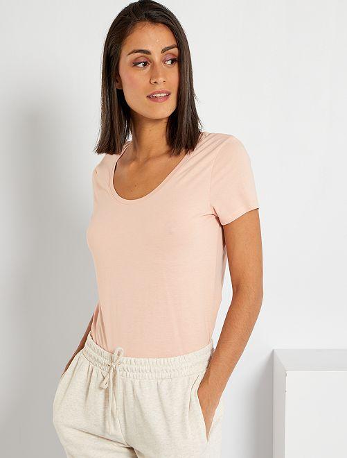 T-shirt basica eco-sostenibile                                                                                                                 ROSA