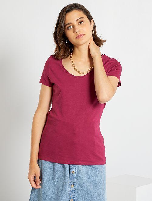 T-shirt basica eco-sostenibile                                                                                                                 rosso