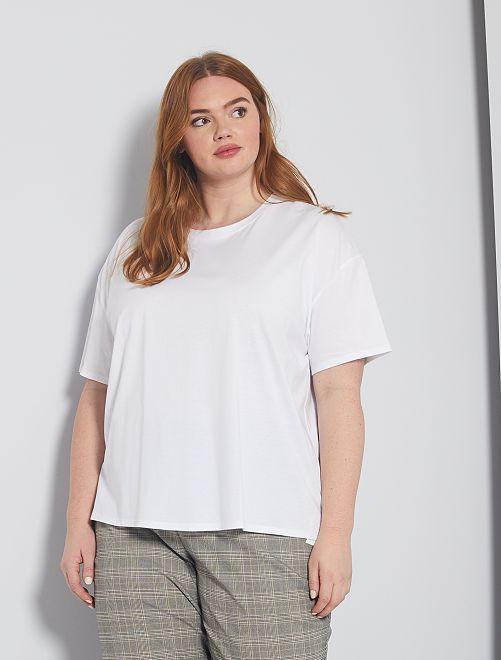 T-shirt basica oversize                                                                 bianco