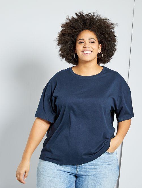 T-shirt basica oversize                                                         blu