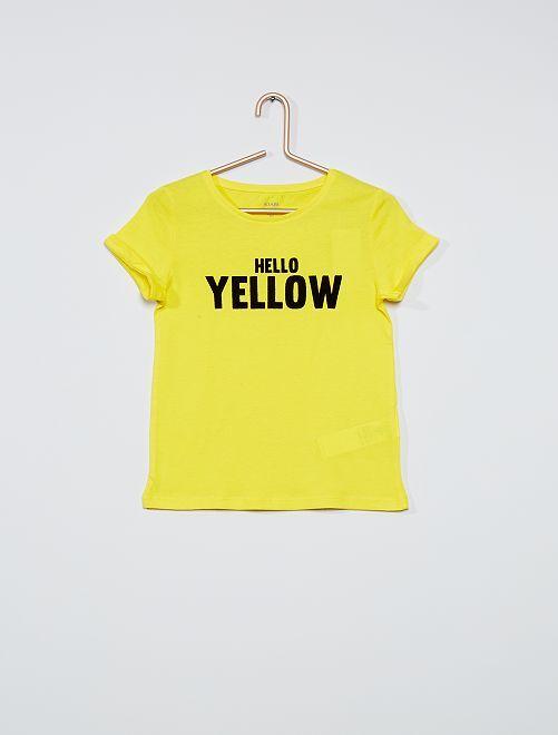 T-shirt basica stampata                                         GIALLO