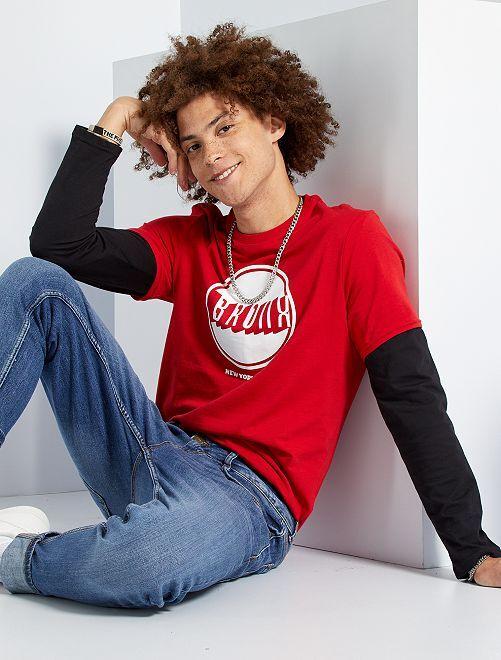 T-shirt 'Bronx'                                                                                                                                                     ROSSO