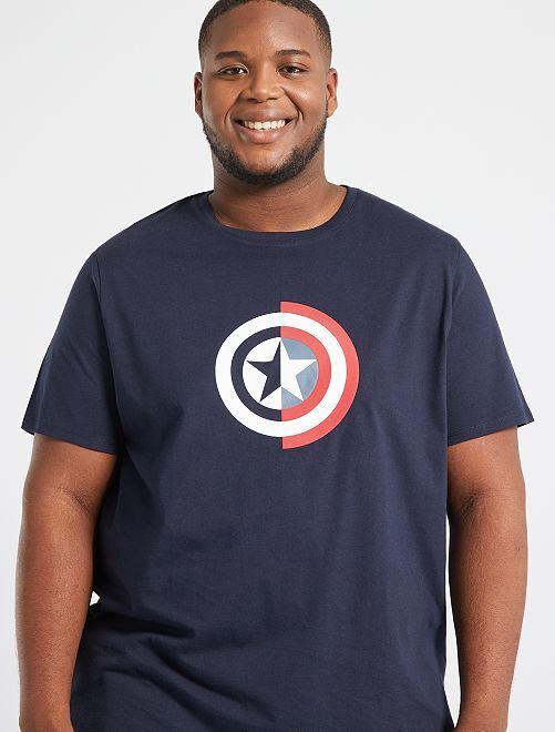 T-shirt 'Capitan America'                                                                 BLU