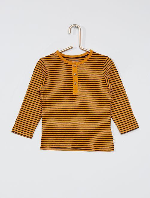 T-shirt collo serafino eco-sostenibile                                                                             ROSSO