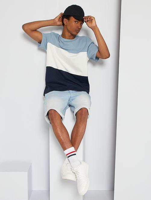T-shirt color block                                 BLU