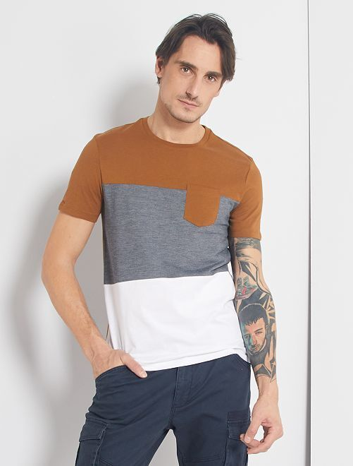 T-shirt colorblock                                         BEIGE