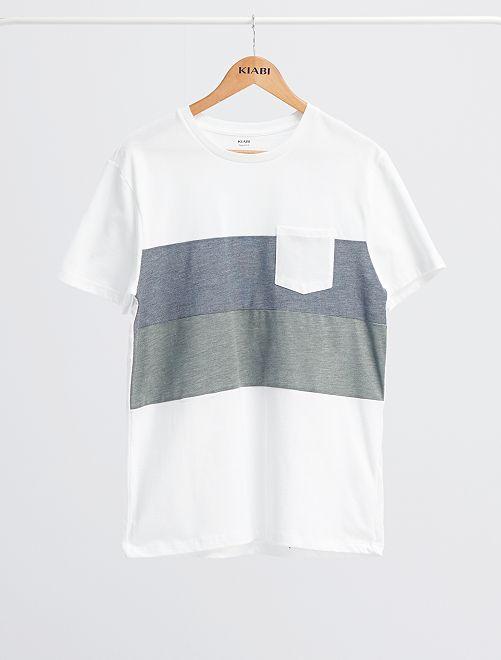 T-shirt colorblock                                                                 bianco